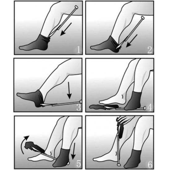 Nogavičnik.net pripomoček za preprosto obuvanje in sezuvanje nogavic