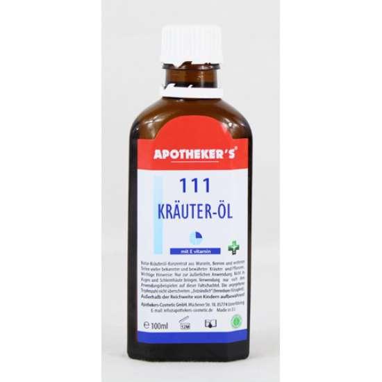 Zeliščno masažno olje 111 - krauter olje Apothekers