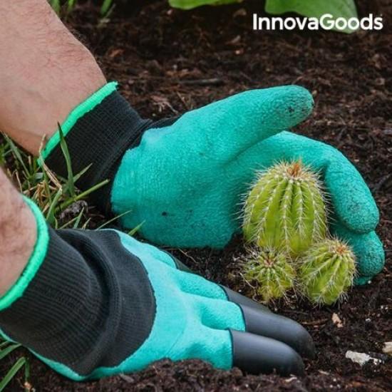Vrtnarske rokavice s 4 kremplji za kopanje Garden Deluxe