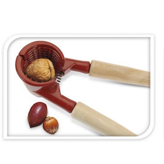 Drobilec orehov z lesenim ročajem