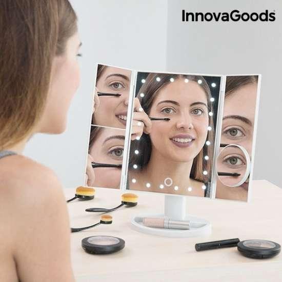 Namizno LED ogledalo s povečavo Deluxe