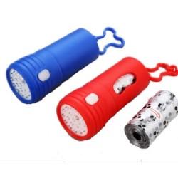 Vrečka z LED lučko za kužke