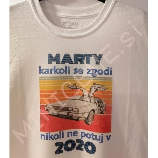 Unikatna majica BACK TO THE FUTURE - ne potuj v 2020