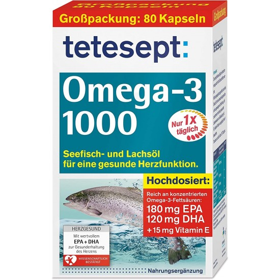 Omega 3 Tetesept 1000 mg 80 tabletk