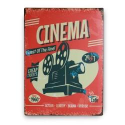 Retro pločevinast znak CINEMA - 30 x 40 cm