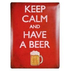 Retro pločevinast znak KEEP CALM AND HAVE A BEER - 30 x 40 cm